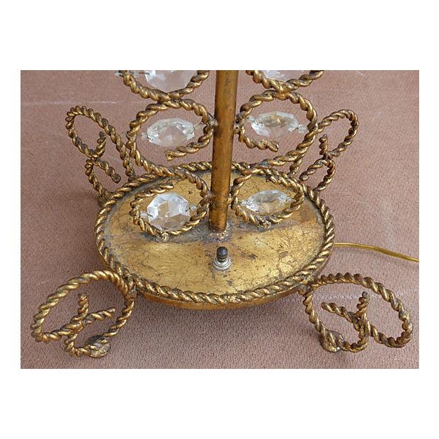Vintage Gilt Rope-Twist & Crystal Lamps - A Pair For Sale In Miami - Image 6 of 9