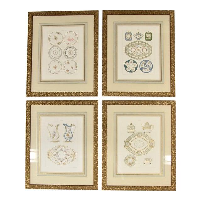 Sevres Porcelain Illustrated Plates, S/4 For Sale