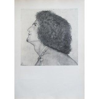 1959 Dante Gabriel Rossetti, Portrait of Algernon Charles Swinburne Original Hungarian Photogravure For Sale