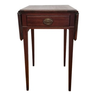 1950s Traditional Federal Drop Leaf Side Table For Sale