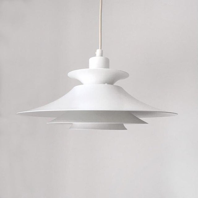 """Vintage Danish Mid-Century Pendant Light by Jeka """"Silhuet"""" For Sale In San Francisco - Image 6 of 6"""