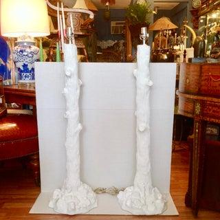 Pair of Midcentury Faux Bois Floor Lamps Preview