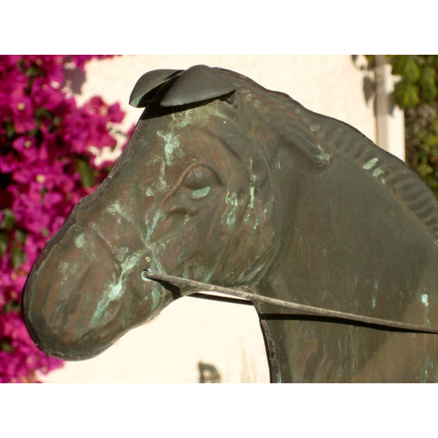 Metal Vintage Horse and Buggy Coper Weathervane For Sale - Image 7 of 13