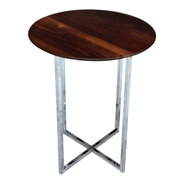 Midcentury Modern Rosewood & Chrome Drinks Table For Sale