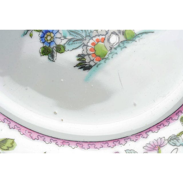 Noritake Pink with Bird of Paradise Dinner Plates - Set of 10 For Sale In Greensboro - Image 6 of 9