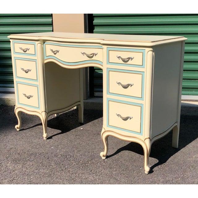 Drexel Drexel French Provincial Desk Vanity For Sale - Image 4 of 10