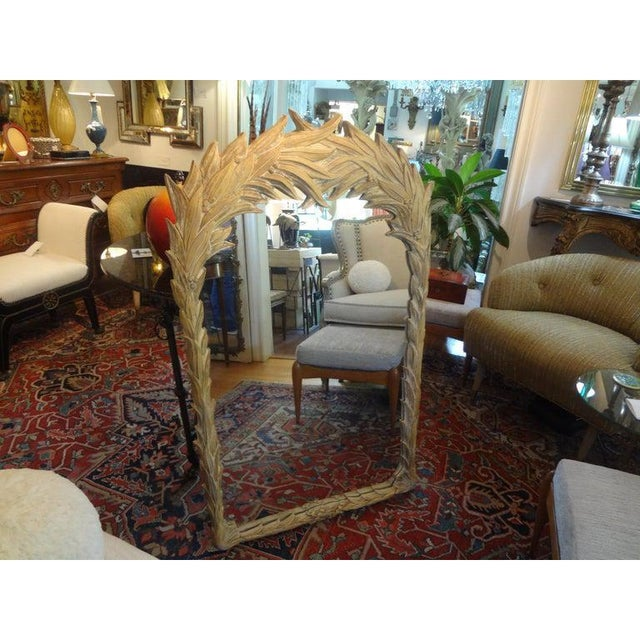 Dorothy Draper Vintage Dorothy Draper Style Palm Frond Mirror For Sale - Image 4 of 12