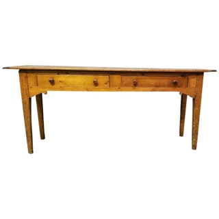 19th Century English Country Pine Console Table For Sale