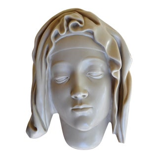 """1982 Metropolitan Museum of Art Cold Cast Marble Sculpture of """"Head of the Virgin"""" For Sale"""