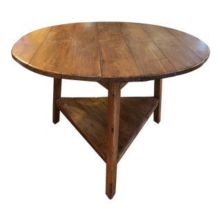 1990's English Pine Cricket Table in Excellent Condition and a Rare Find. For Sale