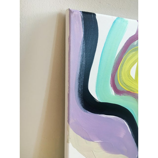 Original painting by Jessalin Beutler, completed in 2018. Acrylic on stretched canvas. Edges are white but some paint...