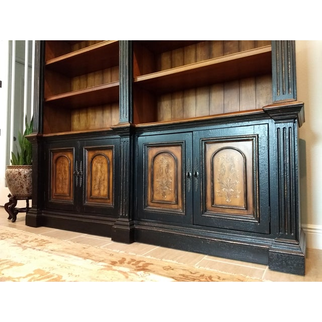 Hooker Furniture Library Cabinet - a Beautiful and Diverse Piece for Your Home or Office: Hooker Furniture Double Credenza & Double Bookcase (2 Pieces) For Sale - Image 4 of 13