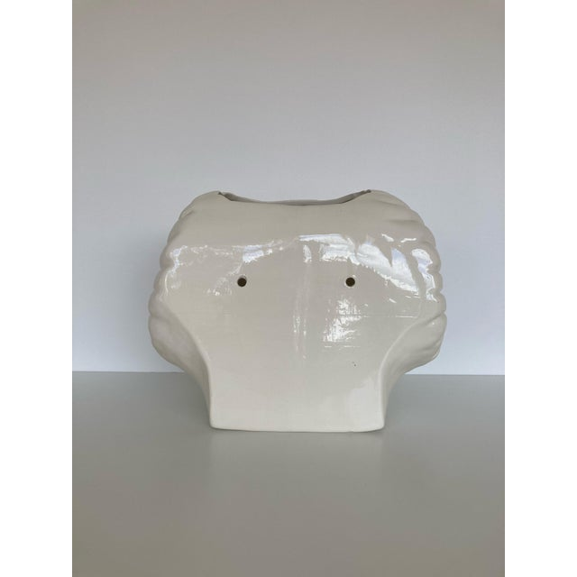 Vintage Rams Head Wall Planter For Sale - Image 4 of 10