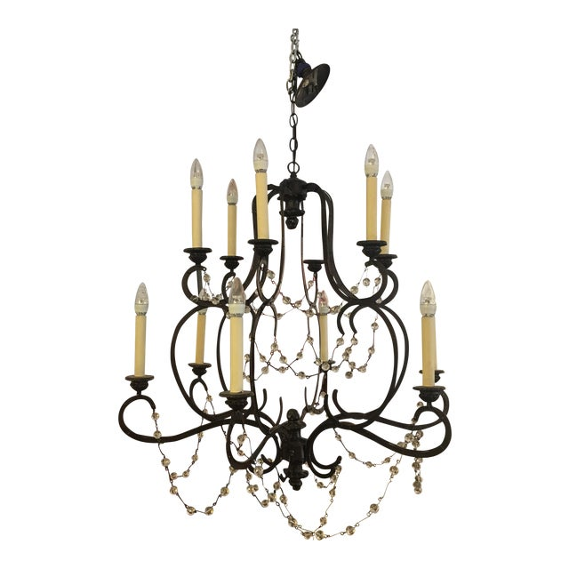 Visual Comfort Niermann Weeks Lombary Double Tiered Chandelier For Sale