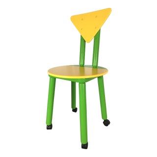 1990s Post Modern Memphis Children's Desk Chair For Sale