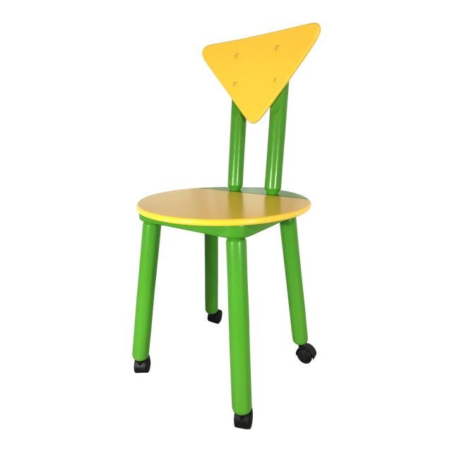 Sensational 1990S Post Modern Memphis Childrens Desk Chair Alphanode Cool Chair Designs And Ideas Alphanodeonline