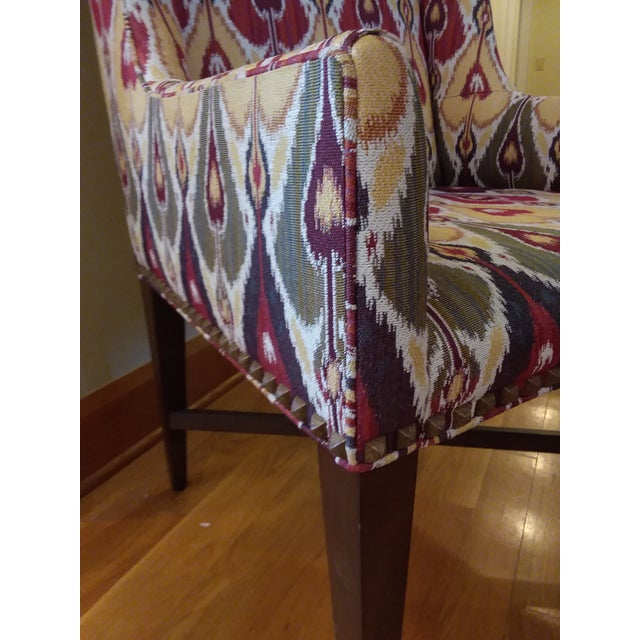 2010s Modern Pearson Upholstered Chairs- a Pair For Sale - Image 5 of 7
