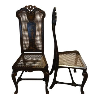 Chinese Tall Back Chairs - a Pair