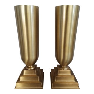 Art Deco Trophy Vases - A Pair