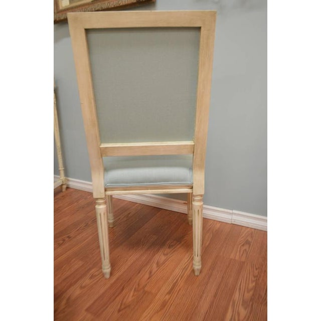 Wood Louis XVI Style Square Back Dining Chairs Available for Custom Order For Sale - Image 7 of 8