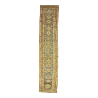 Antique Washed Out Persian Runner Rug For Sale
