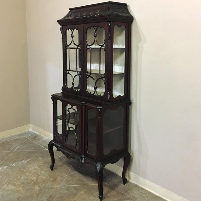 Asian 19th Century English Curio Cabinet For Sale - Image 3 of 13