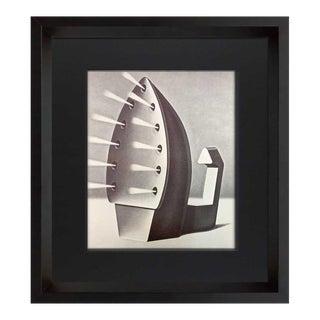 "Konrad Klapheck Ltd. Ed. No.12 ""Fanatique"" Lithograph Deckled W/ Frame For Sale"
