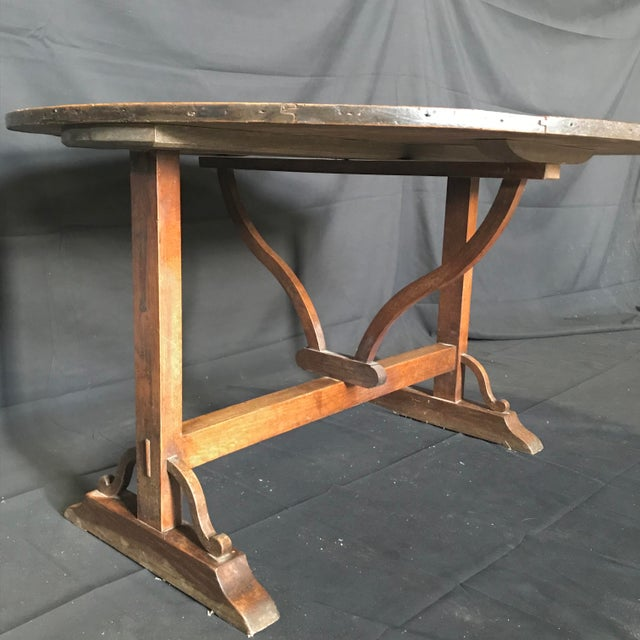 Mid 19th Century 19th Century Large Antique French Wine Tasting Table For Sale - Image 5 of 5