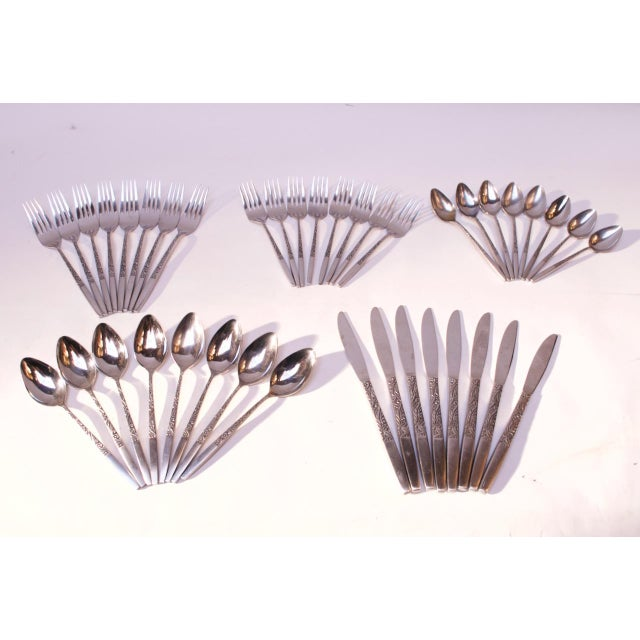 Mid-Century Japanese Modern Ekco Epic Forty-Piece Stainless Steel Flatware Set For Sale - Image 13 of 13