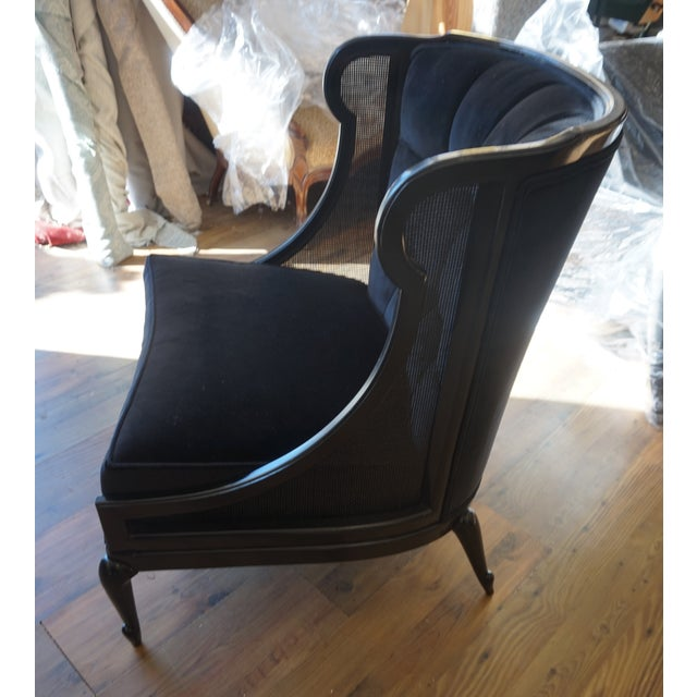 1960s 1960s Vintage Ponti Inspired Ebonized High Style Mastercraft Club Chair For Sale - Image 5 of 13