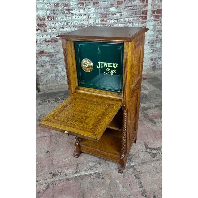 Antique Victorian Oak Cabinet W/Hidden Jewelry Safe -Rare For Sale - Image 11 of 11