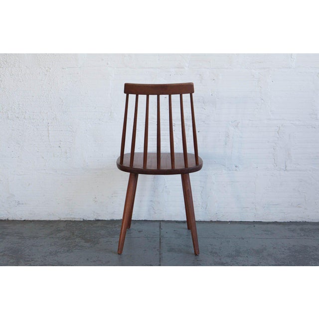 Brown Yngve Ekström Swedish Spindleback Teak Dining Chairs - Set of 4 For Sale - Image 8 of 10