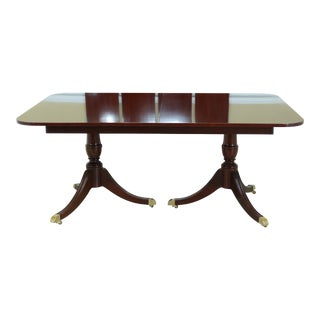 Kindel Duncan Phyfe Oxford Mahogany Dining Room Table For Sale