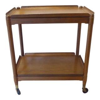 Vintage Modern John Stuart Hardwood Side Table For Sale