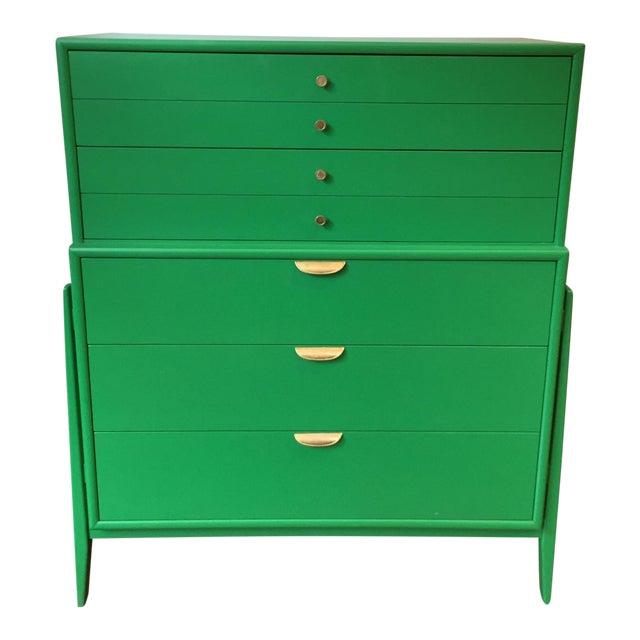 Green Mid-Century Modern Dresser For Sale