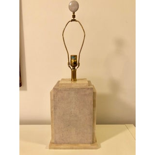 1980s Maitland Smith Tessellated Stone & Shagreen Table Lamp Preview