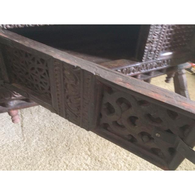 Antique Indian Wood Carved Sideboard - Image 6 of 10