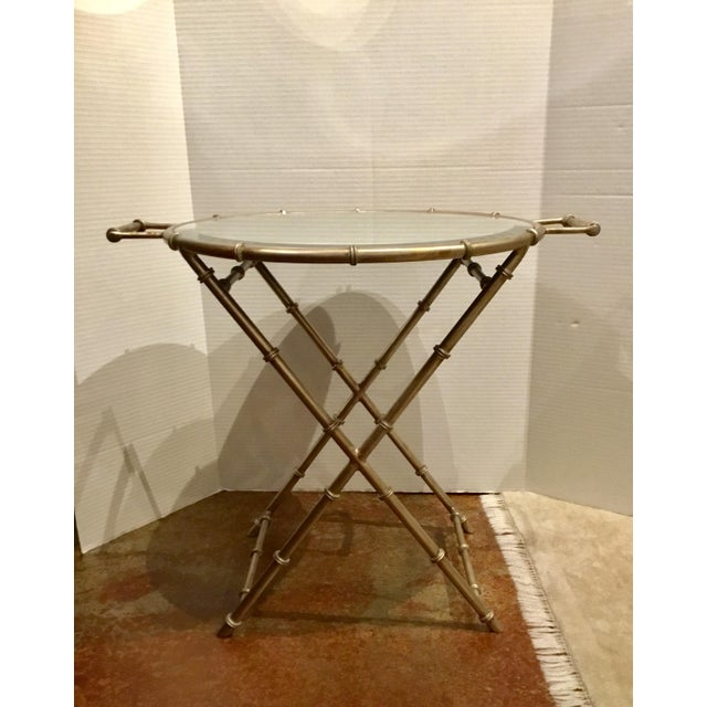 Asian Modern Mirror Top Style Side Table For Sale In Atlanta - Image 6 of 6