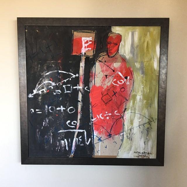 Striking mixed media piece by Sudanese artist Mutaz Elemam. Elemam has showcased his artwork in exhibitions and...