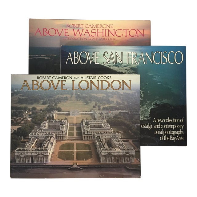 """Above London/San Francisco/Washington"" First Edition Photo/Art Books - Set of 3 For Sale"