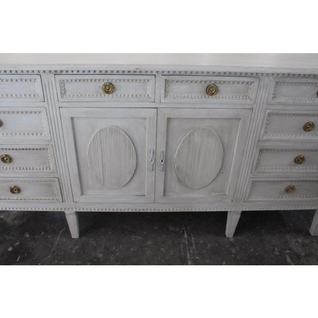20th Century Gustavian Style Distressed Painted Sideboard For Sale - Image 4 of 8