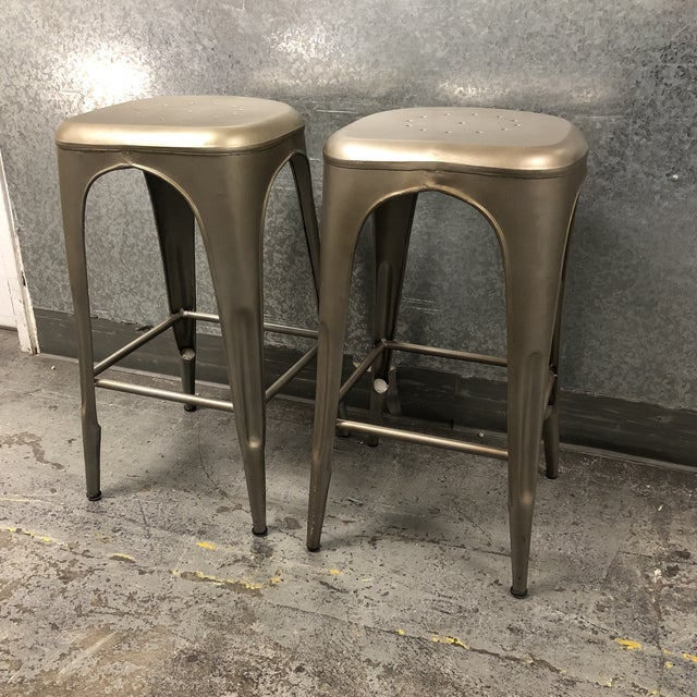 Incredible Restoration Hardware Remy Backless Bar Stools A Pair Inzonedesignstudio Interior Chair Design Inzonedesignstudiocom