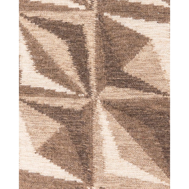 Solo Rugs Grit and Ground Collection Contemporary Samoa Hand-Knotted Flatweave Area Rug, Brown, 8' X 10' For Sale - Image 4 of 5
