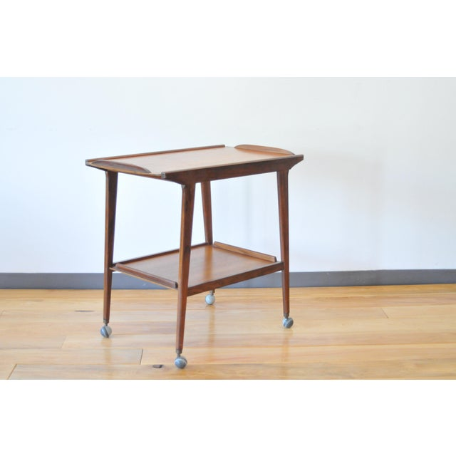 Mid Century Modern Teak Bar Cart/Drinks Trolley For Sale - Image 4 of 8