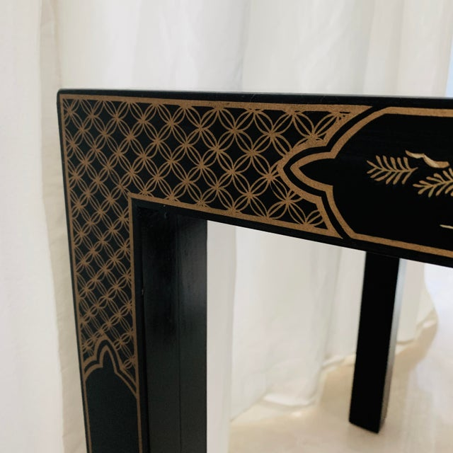 Vintage Drexel Heritage Et Cetera Chinoiserie Lacquer End Side Squared Table For Sale In Miami - Image 6 of 13