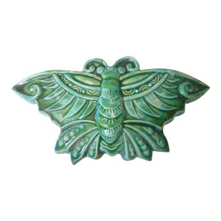 Asian Moth Wall Vase For Sale