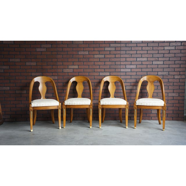 Brown Karges Neoclassical Dining Chairs - Set of 6 For Sale - Image 8 of 11