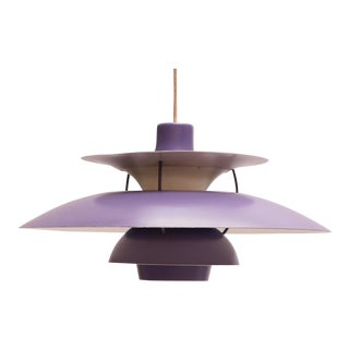 Lilac PH5 Hanging Lamp by Poul Henningsen for Louis Poulsen, 1958 For Sale