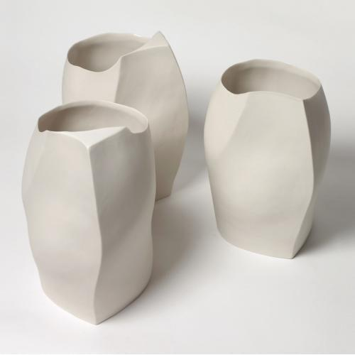 Kathryn Scott porcelain is hand made giving each piece individual characteristics of shape, profile and size. Available in...