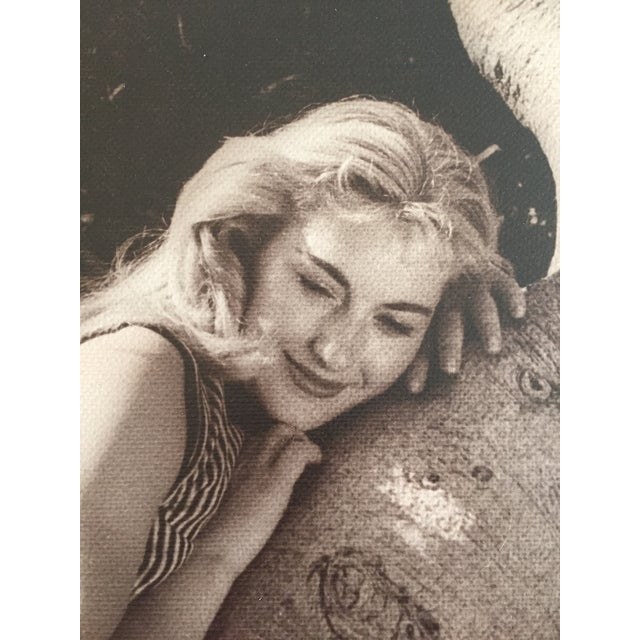 "Vintage photograph portrait of a young woman titled ""Dreamy"" By Ruth McNutt. Exhibited in 1957 at the Sunset Magazine..."